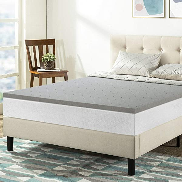 9TRADING 1 5 Bamboo Charcoal Infused Cooling Memory Foam Bed Topper Twin Extra Long Bamboo Charcoal
