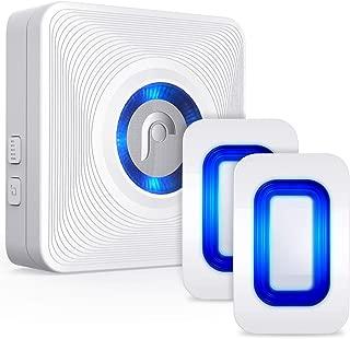 Fosmon WaveLink 51076HOMUS Wireless Home Security Driveway Alarm, Motion Sensor Detect Alert, Store Door Entry Chime Doorbell (150M/500FT, 52 Tunes, 4 Volume Levels, LED Indicators), 2 Motion Detector
