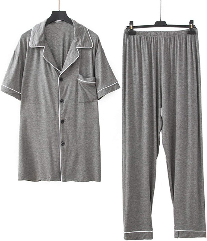 Men's Pajamas Set Long Sleeve Pajama Sleepwear gray L