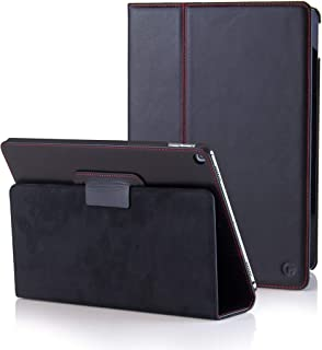 CASEMADE iPad 9.7 2018 6th Generation / 2017 5th Generation Case/Cover Real Italian Cowhide Leather/Slim Fit Folio for The iPad 2017 / iPad 2018 (Black)