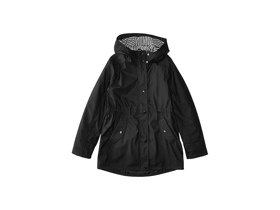 Urban Republic Kids Raincoat Anorak Jacket (Little Kids/Big Kids) (Black) Girl