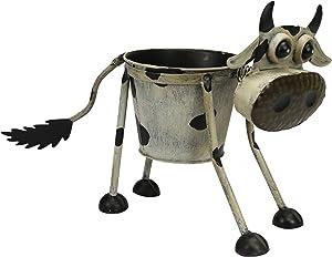 Metal maceta maceta granja vaca de Goofy decorativa jardín Escultura Estatua Figura decorativa 43cm