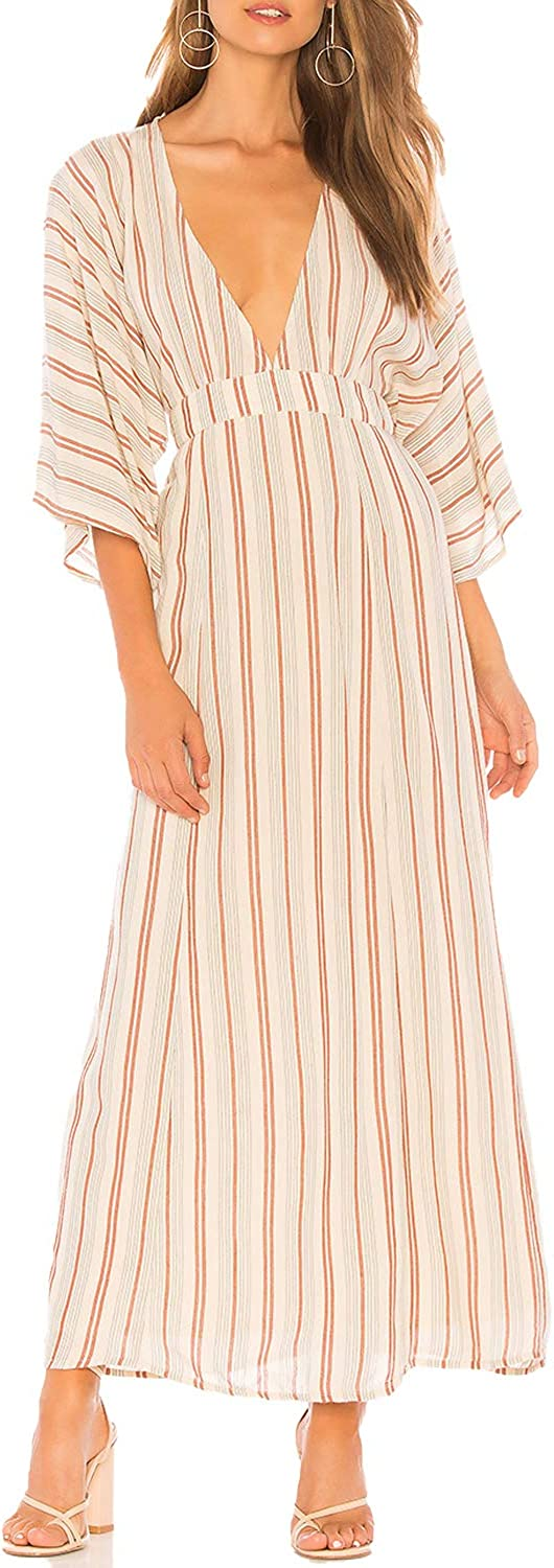 Amuse Society Womens Forever and A Day Striped Dress Sand Extra Small, Small, Medium, Large