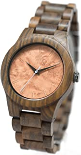Lux Woods Bendemeer Chanate Wood Watch with Wood Band- Burl Face