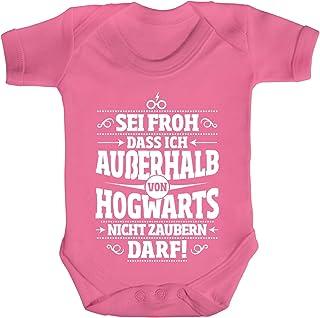 ShirtStreet Fanartikel Fan Kult Film Strampler Bio Baumwoll Baby Body Kurzarm Jungen Mädchen Außerhalb von Hogwarts