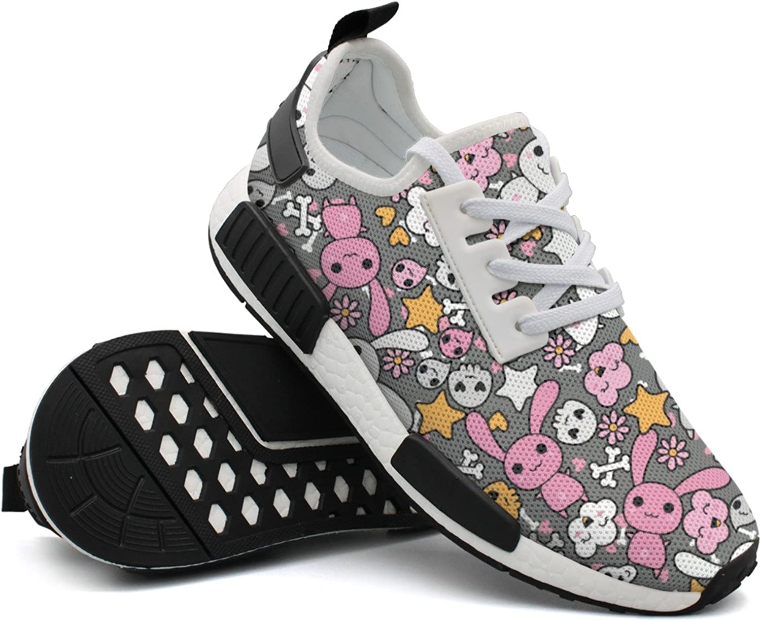 Womens Ladies Rabbit Stuffed Animal colorful Top Cool Fashion Running shoes