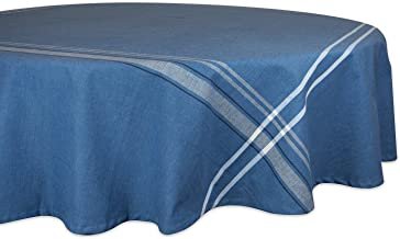 DII 100% Cotton, Machine Washable, Everyday French Stripe Kitchen Tablecloth For Dinner Parties, Summer & Outdoor Picnics ...