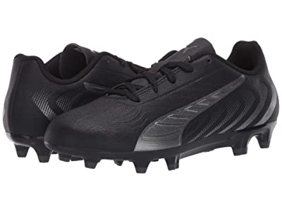 PUMA Kids One 20.4 FG/AG Soccer (Little Kid/Big Kid) (Black/Asphalt) Kids Shoes