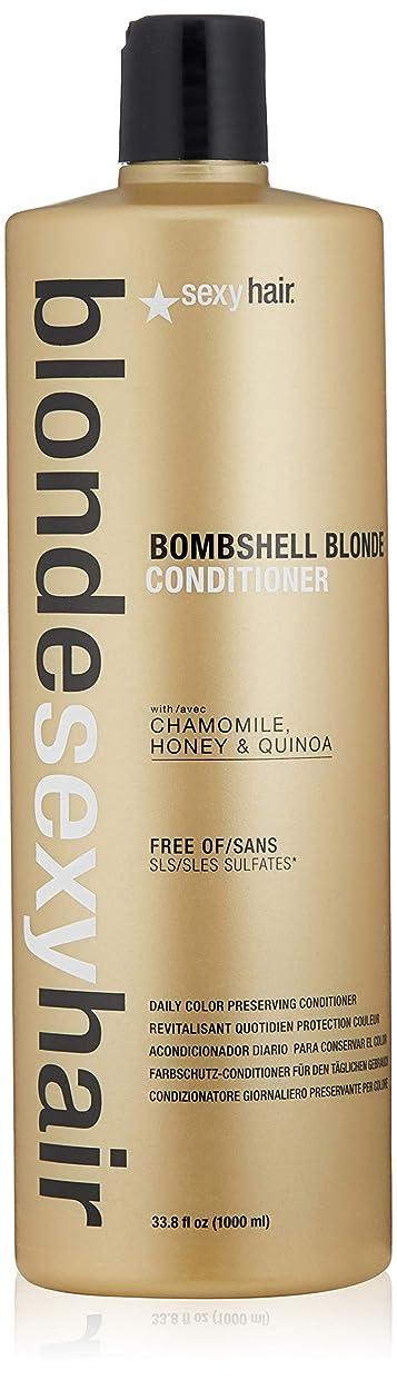 促すハロウィンあえてBlonde Sexy Hair Sulfate-Free Bombshell Blonde Conditioner (Daily Color Preserving)[並行輸入品]