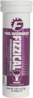 Fizzical Pre Workout Tablets - Fuels Your Workout - Aids in Muscle Performance - Caffeine from Green Tea - Grape Flavor - Perfect Booster for Hard Exercises - 10 Tablets, 1.83 oz/51 g - Pack of 1