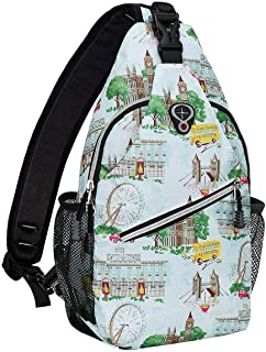 MOSISO Sling Backpack, Polyester Water Repellent Multipurpose Crossbody Shoulder Bag Travel Hiking Daypack,