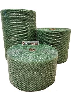Realpack Realpack321 Luftpolsterfolie, recycelbar, antistatisch, umweltfreundlich, klein, 300 mm / 500 mm / 750 mm 300 mm x 20 m Grün