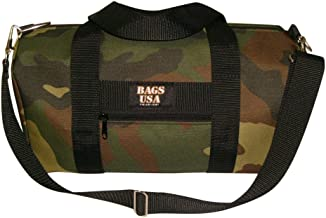 product image for BAGS USA Gym Bag with Front Zipper Pocket Woodland Camouflage Made in U.s.a.