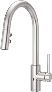 Pfister LG529ESAS Stellen React Touch-Free 1-Handle Electronic Pull-Down Kitchen Faucet, Stainless Steel
