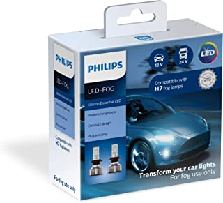 Philips H7 Ultinon Essential LED Fog Lights, 2 Pack