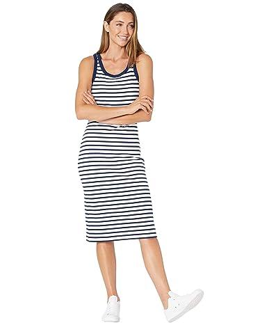 Madewell Ribbed Tank Scoop Midi Dress in Stripe