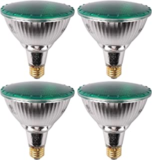 7Pandas PAR38 LED Flood Light Bulb, 90W Equivalent Halogen Bulb, ETL Listed, Full Glass Body, 14W 1200 LM, Outdoor and Indoor Home Decor, Pack of 4, Green