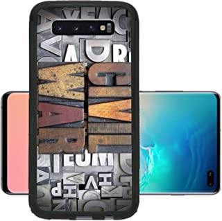 Liili Phone Case Designed for Galaxy S10 Plus Case Aluminum Backplate Bumper Snap Case Civil War Written in Vintage Letterpress Type Image ID 24898130