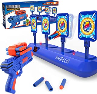 BAODLONDigital ShootingTargets with Foam Dart Toy Gun, Electronic Scoring Auto Reset 4Targets Toys, Fun Toysfor Age of 5,6,7,8,9,10+ Years Old Kids, Boys & Girls, Compatible with Nerf Toys