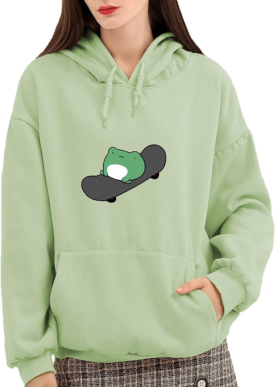 KEEVICI Women's Max San Antonio Mall 61% OFF Cute Sweatshirts Frog Sleeve Skateboarding Long