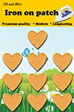 Iron On Patches - Yellow Heart Patch 10 pcs Iron On Patch Embroidered Applique 1.26 x 1.18 inches (3.2 x 3 cm) A-127