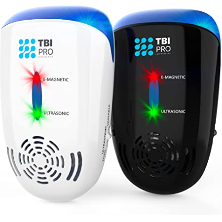 Effective Ultrasonic Pest Repeller - Wall Plug-in Electromagnetic & Ionic - Ant Fly Mosquito Mouse Rats Roach Repellent indoor - Cockroach Control Safe Quiet Electronic Device - 3000 Sq.ft (2-Pack)