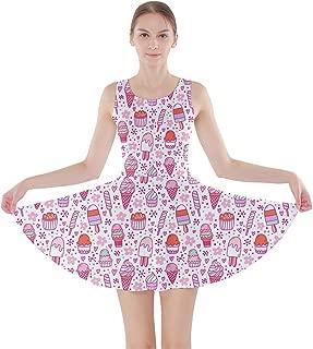 CowCow Womens Yummy Ice Pattern Skater Dress