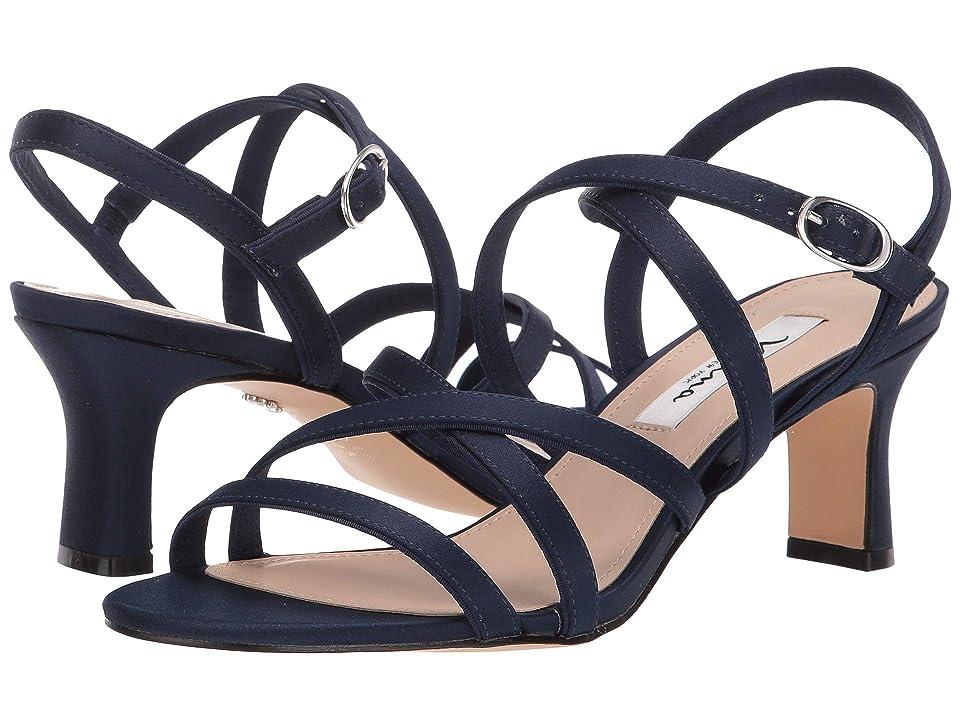 Nina Genaya (New Navy Luster Satin) High Heels