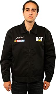 Men's Nascar Jeff Burton Caterpillar Racing Mechanic Black Jacket