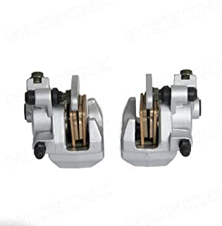 NICECNC Front Right & Left Brake Caliper for Yamaha Grizzly 660 YFM660 2002-2008 Grizzly 350/450 07-14 400 07-08 Big Bear 250 07-09 400 00-12 Blaster 200 03-06 Bruin 250 04-06 Raptor 350 05-13