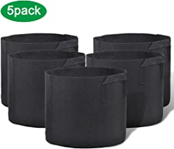 Y YOOMALL Plant Grow Bags 5-Pack 7 Gallon Fabric Aeration Pots, Thickened Breathable Fabric Pots with Handles for Vegetable/Flower/Plants