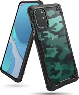 Ringke Compatible with OnePlus 8T / 8T+ 5G Cover Hard Fusion-X Ergonomic Transparent Shock Absorption TPU Bumper [ Designe...