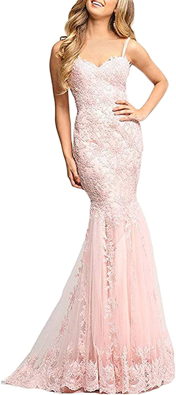 BridalAffair 2018 Women's Mermaid Wedding Dress Sweetheart Straps Formal Prom Dress Evening Gowns