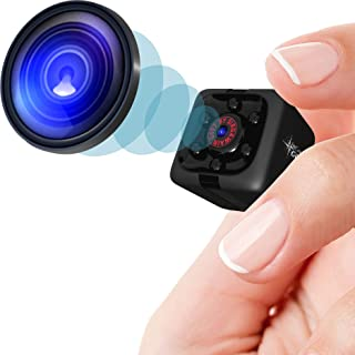 Mini Spy Camera 1080P Hidden Camera | Portable Small HD Nanny Cam with Night Vision and Motion Detection | Perfect Indoor ...