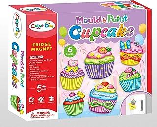 JADE DIY Mould and Paint Fridge Magnet - DIY Fridge Magnet Craft Kit – Craft Kit for Boys/ Girls (Cupcake)