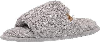 Dearfoams Women's Lane Fluffy Teddy Slide Slipper