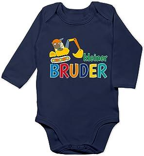 Shirtracer Geschwisterliebe Baby - Kleiner Bruder Bagger - Baby Body Langarm