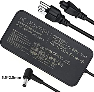 19V 6.32A(6.3A) 120W UL Listed Extra Long 13Ft AC-Adapter-Charger, for Asus N750 N500 G50 N53S N55 PA-1121-28 A15-120P1A Laptop Power-Supply Cord