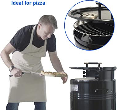 EasyGoProducts Big Bad Barrel Drum Charcoal Barbeque 5 in 1-Smoker, Grill, Pizza Oven, Table and Fire Pit, Tool Set, Black