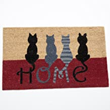 Bits and Pieces - Cat Tails Rubber Doormat - Clever Door Mat to Welcome Family and Friends - Home Décor