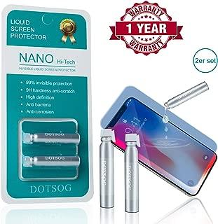DOTSOG Liquid Nano Screen Protector, (2-Pcs) Hi-Tech Anti Scratch Liquid Glass Screen Guard Tempered for All Smartphones & Sports Watches & Tablets, Covers Up to 6 Phones