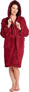 Pembrook Ladies Robe with Hood - Plush Fleece – Kimono Wrap – Spa Bathrobe Women, Girls