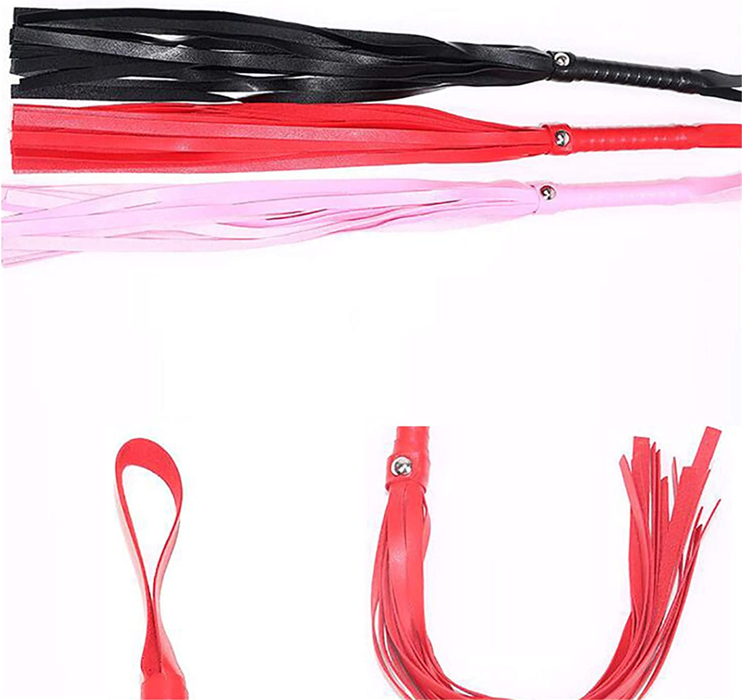 Flybloom Horse Riding Whip with Microfiber Anti-slip Handle