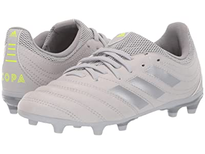 adidas Kids Copa 20.3 FG Soccer (Little Kid/Big Kid) (Grey/Matte Silver/Solar Yellow) Kids Shoes