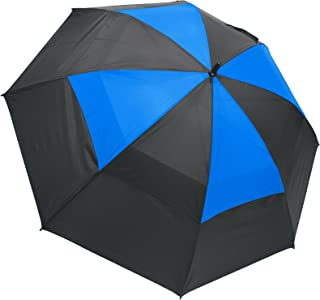 ProActive Sports 62 英寸防风啦队透气双层遮阳伞防风高尔夫伞(黑色/蓝色)