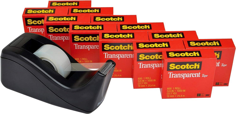 Scotch Outlet SALE Brand NEW before selling Transparent Tape with C60 Desktop Dispenser Versat