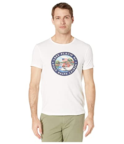 Polo Ralph Lauren Custom Slim Graphic T-Shirt (Classic Oxford White) Men