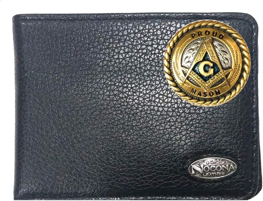 Custom Large 大人気! Proud Mason Nocona Wallet 特売 Signature Black Bi-fold