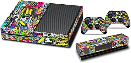 Skins Stickers for Xbox One - Custom Xbox One Console Remote Controller Protective Vinyl Decals Covers - Leather Texture Protector Accessories Fit Xbox 1 Controller - Doodle