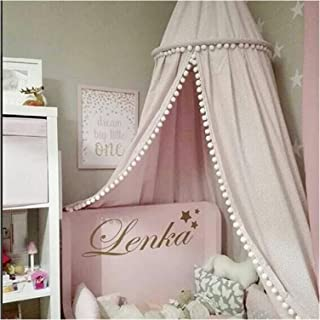 JSJJRFV Myggnät hängande tält barn baby sängkläder baldakin myggnät sängtäcke gardin för nyfödda heminredning inomhus barn...
